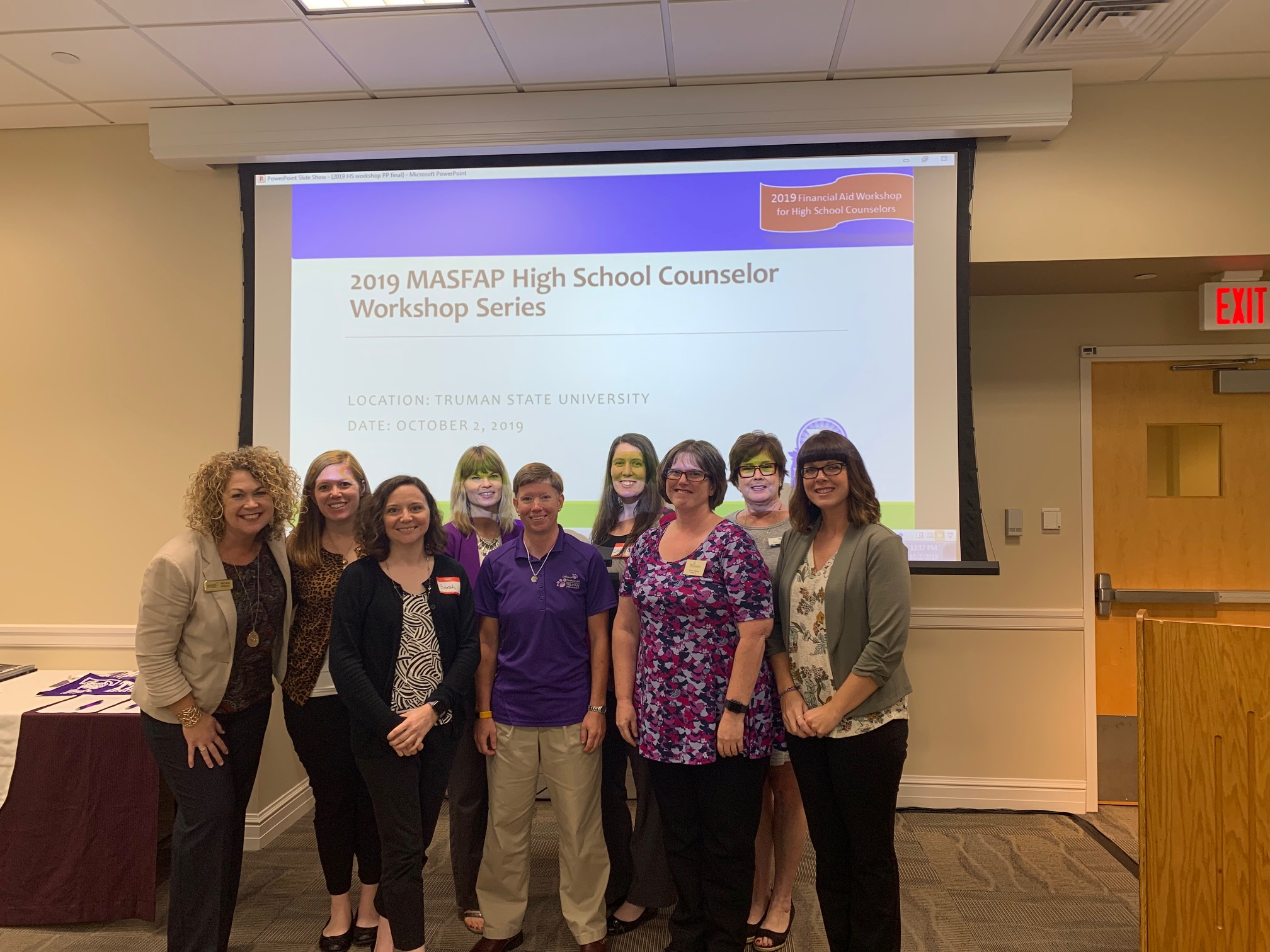 MASFAP members presenting at Truman State to High School Counselors